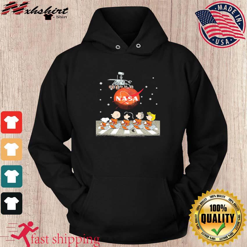 NASA Snoopy Charlie Brown And Friends Abbey Road Mars Perseverance Rover Mission 2020 Shirt hoodie