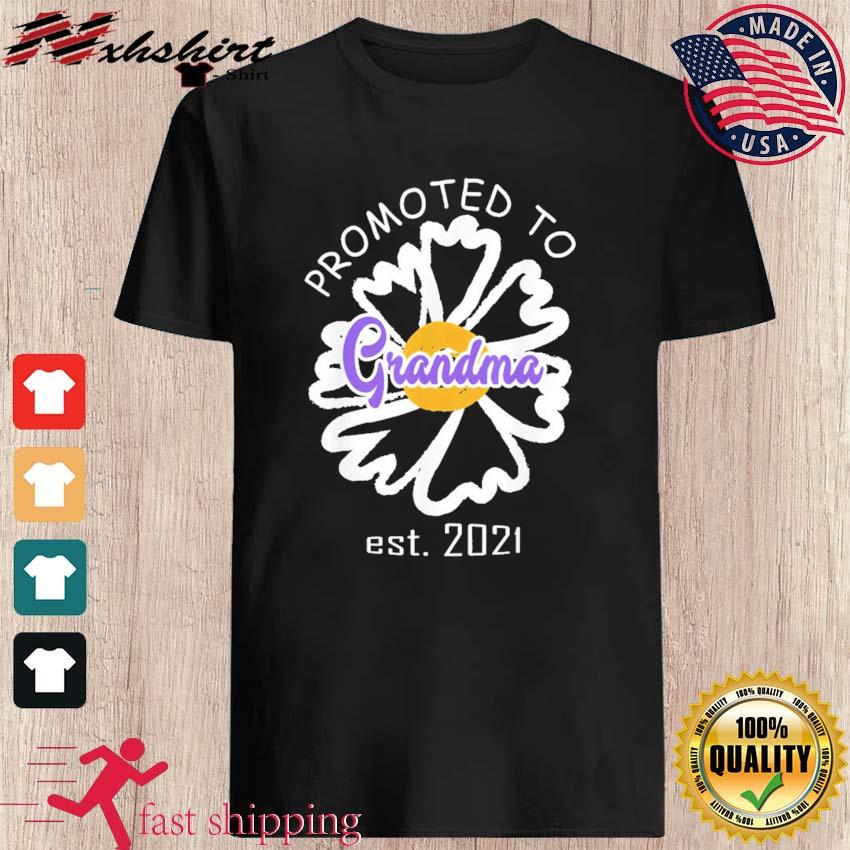 Promoted To Grandma Est 2021 Mothers Day Gift For Grandma T-shirts