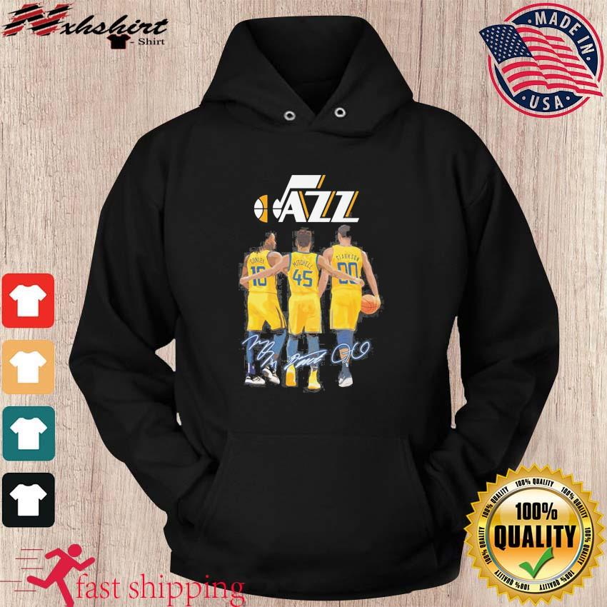 The Jazz 10 Conley 45 Mitchell 00 Clarkson Siganatures Shirt hoodie
