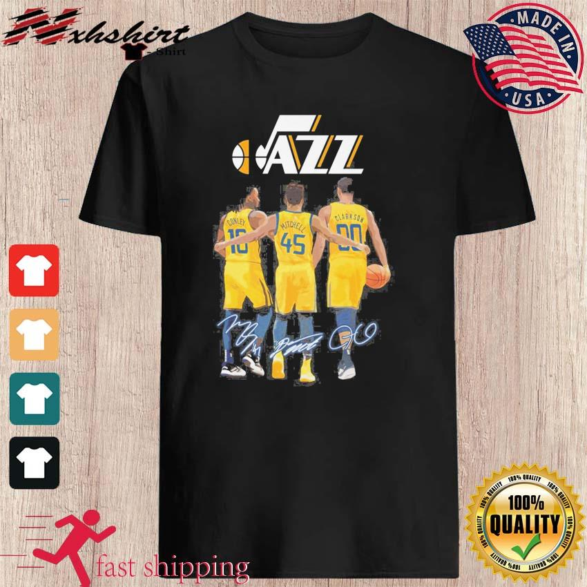 The Jazz 10 Conley 45 Mitchell 00 Clarkson Siganatures Shirt