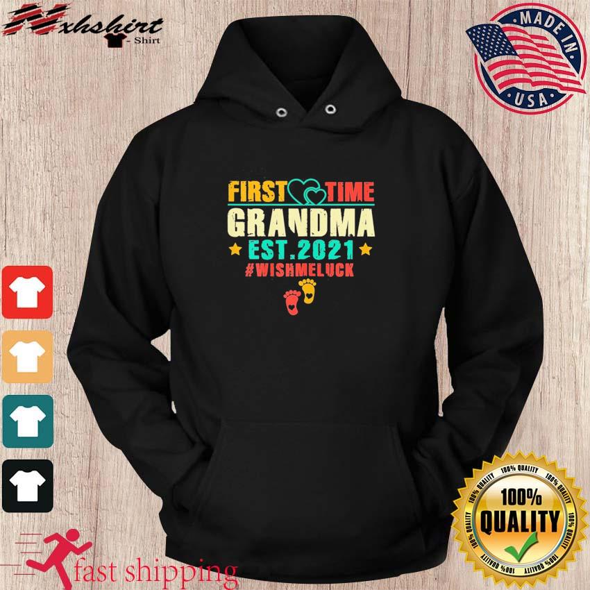 Womens First Time Grandma Est 2021 Promoted to Grandma 2021 T-Shirt hoodie