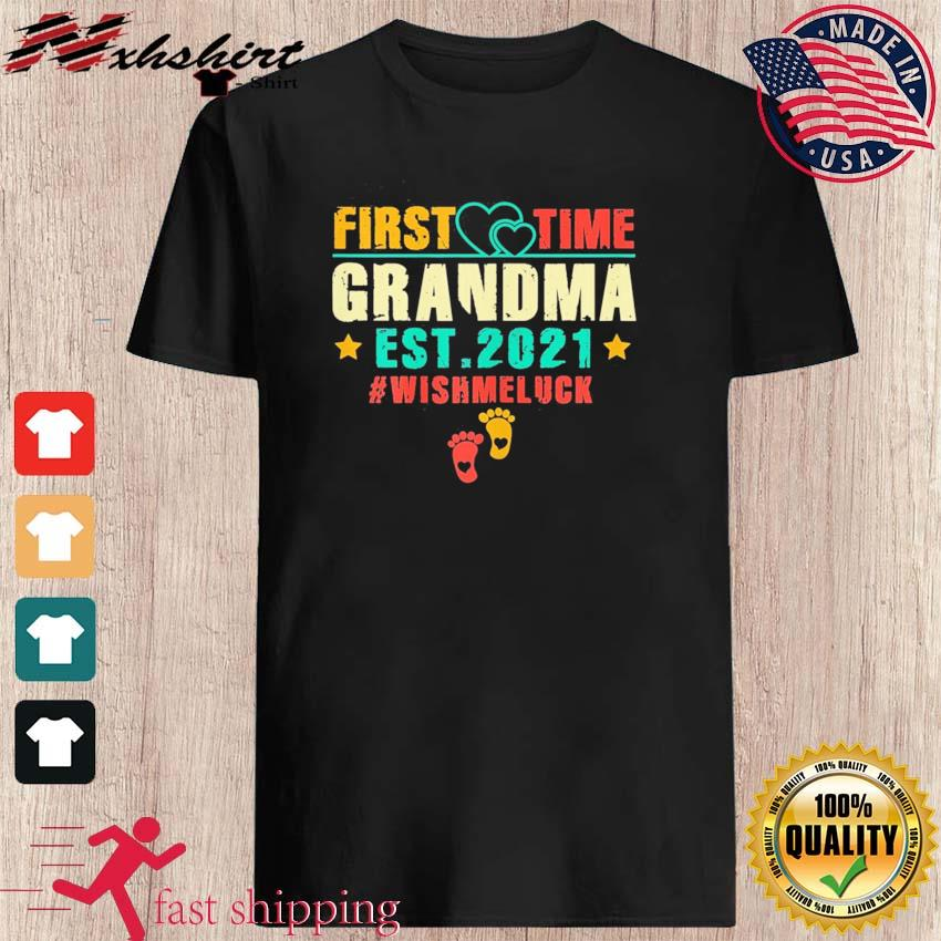 Womens First Time Grandma Est 2021 Promoted to Grandma 2021 T-Shirt