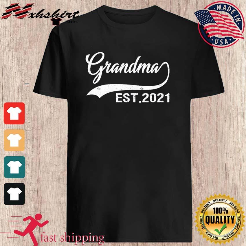 Womens Grandma Est. 2021 Vintage New Grandma Gifts Mothers Day T-Shirt