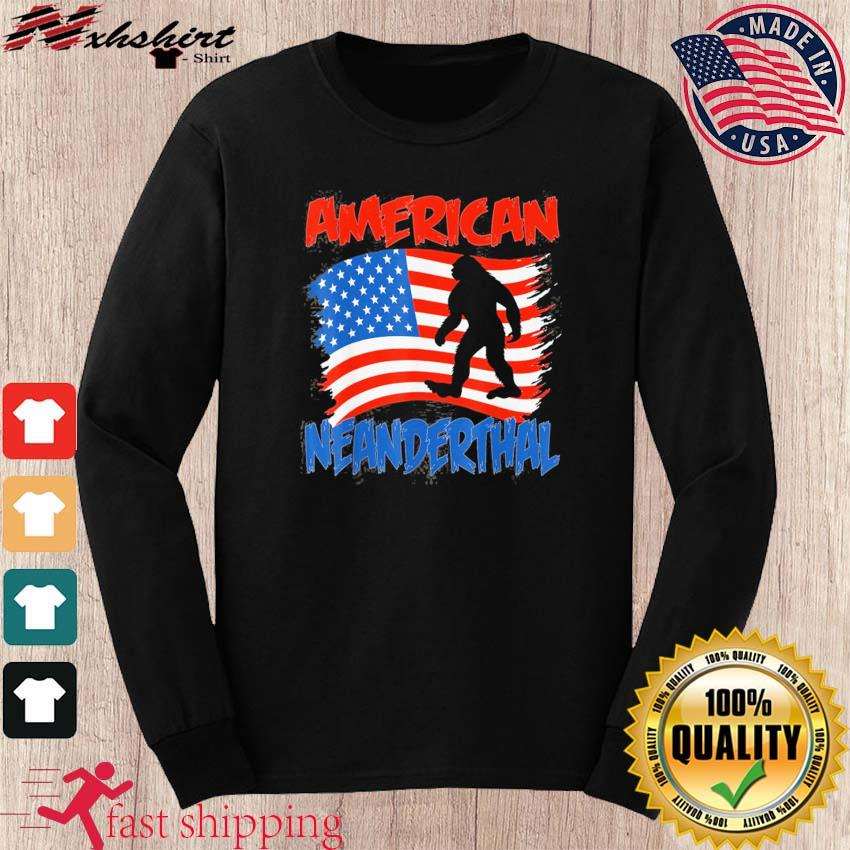 Official American Neanderthal Flag for Proud Neanderthals Shirt long sleeve
