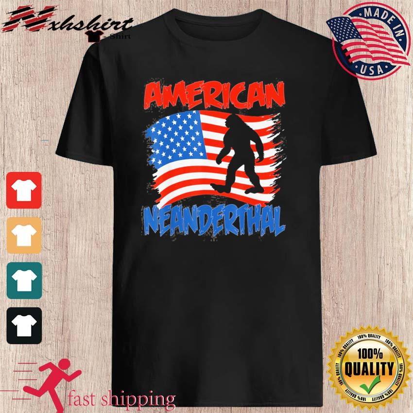 Official American Neanderthal Flag for Proud Neanderthals Shirt