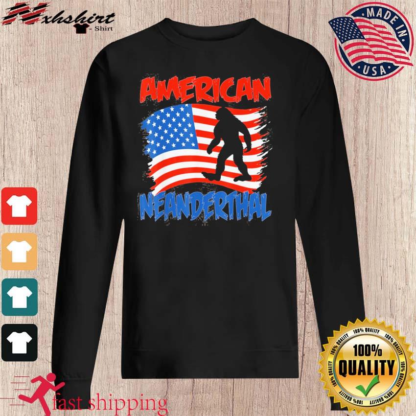 Official American Neanderthal Flag for Proud Neanderthals Shirt sweater