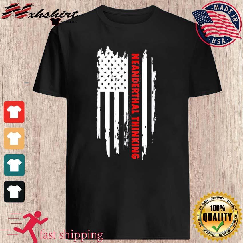 Proud American Neanderthal Thinking Us Flag Classic T-Shirt