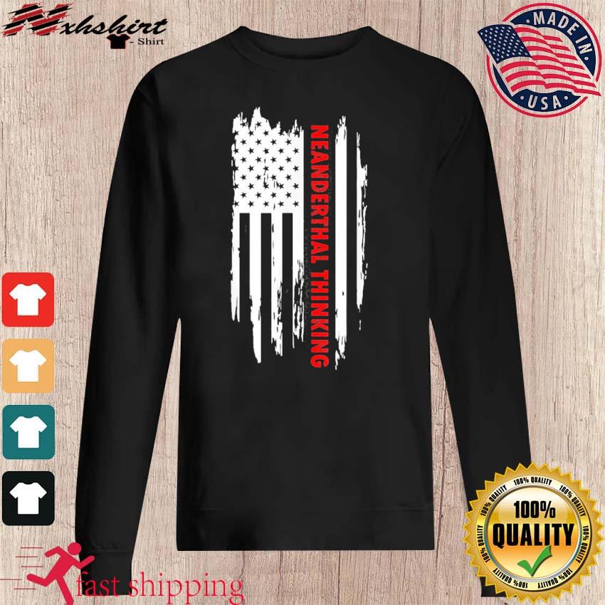 Proud American Neanderthal Thinking Us Flag Classic T-Shirt sweater