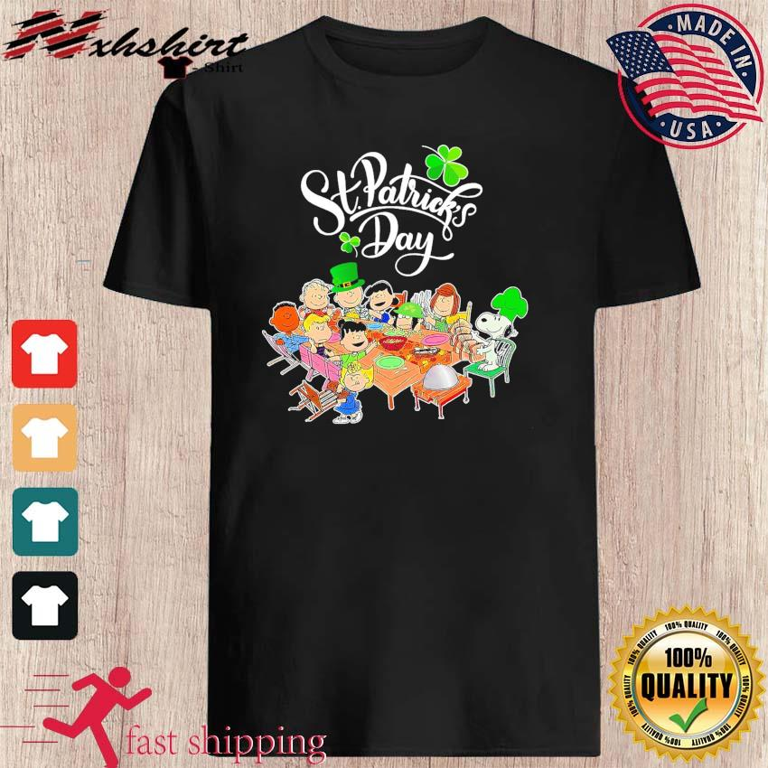 Snoopy Charlie Brown And Friends Party Happy St Patrick's Day 2021 Shirt