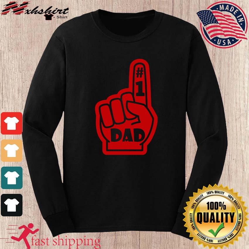 #1 Dad Number One Father's Day Shirt long sleeve