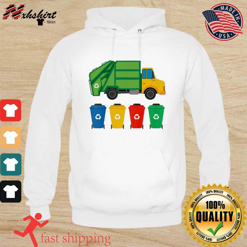Kids Garbage Truck Recycling Bins Earth Day Children Toddler Classic T-Shirt hoodie