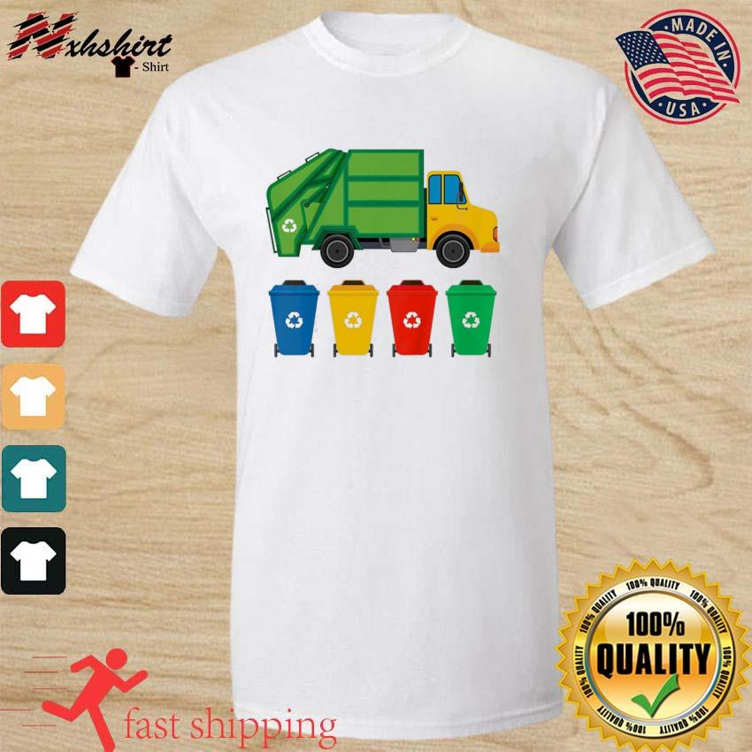 Kids Garbage Truck Recycling Bins Earth Day Children Toddler Classic T-Shirt