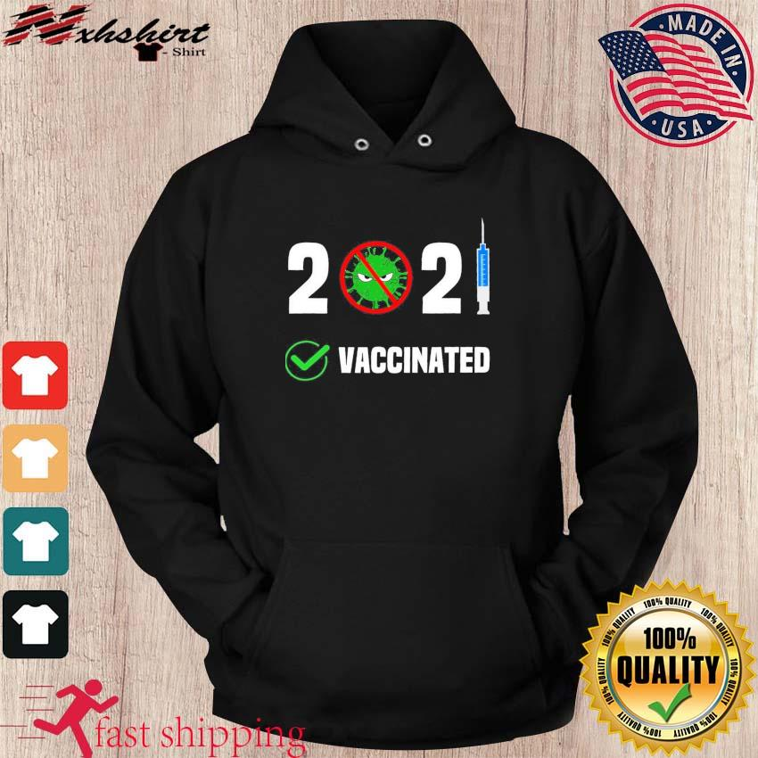 Official 2021 Anti Covid-19 Fully Vaccinated Shirt hoodie