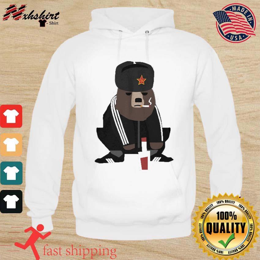 Official Gopnik Bear Squatting On The Street Shirt hoodie