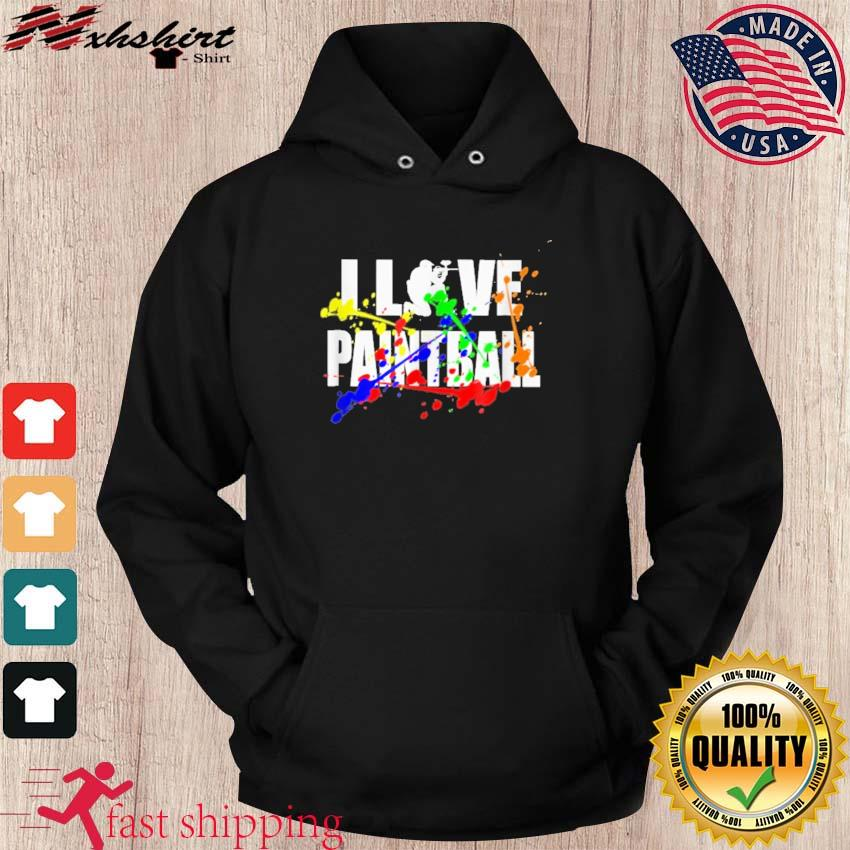 Official I Love Paintball Shirt hoodie