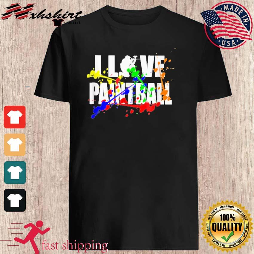 Official I Love Paintball Shirt