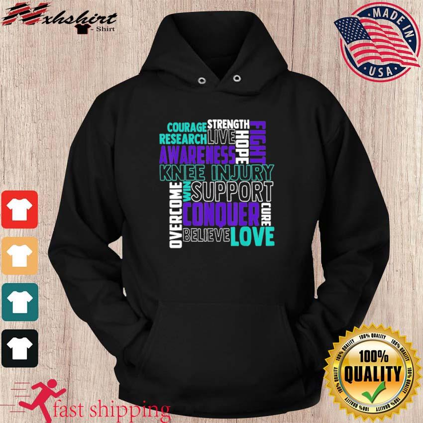 Official Knee Injury Awareness ACL MCL Related Teal Ribbon Shirt hoodie