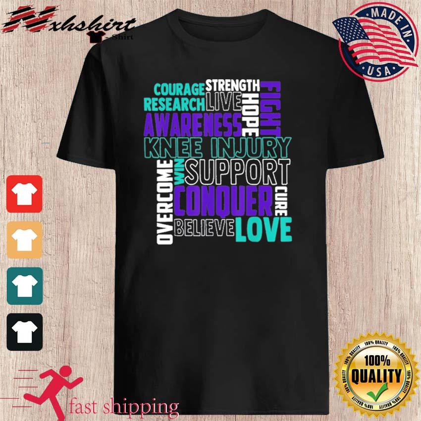 Official Knee Injury Awareness ACL MCL Related Teal Ribbon Shirt