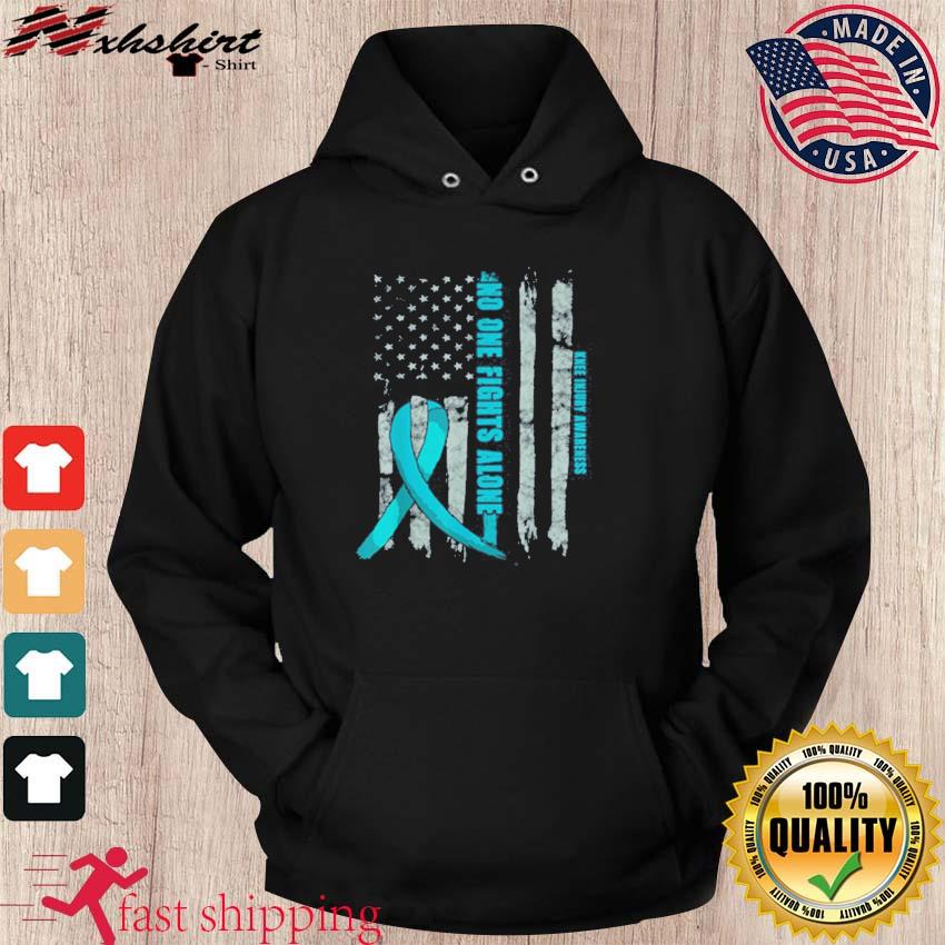 Official Knee Injury Awareness ACL MCL Related Teal Ribbon T-Shirt hoodie