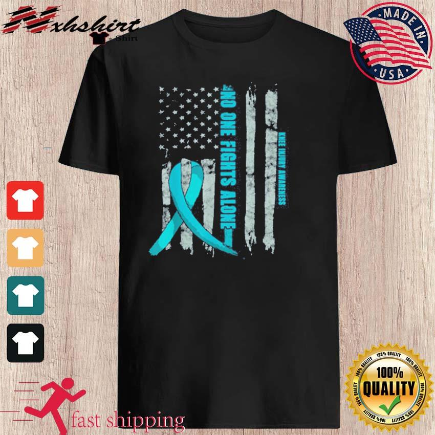 Official Knee Injury Awareness ACL MCL Related Teal Ribbon T-Shirt