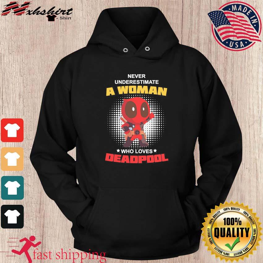 Official Never Underestimate A Woman Who Loves Baby Deadpool Shirt hoodie