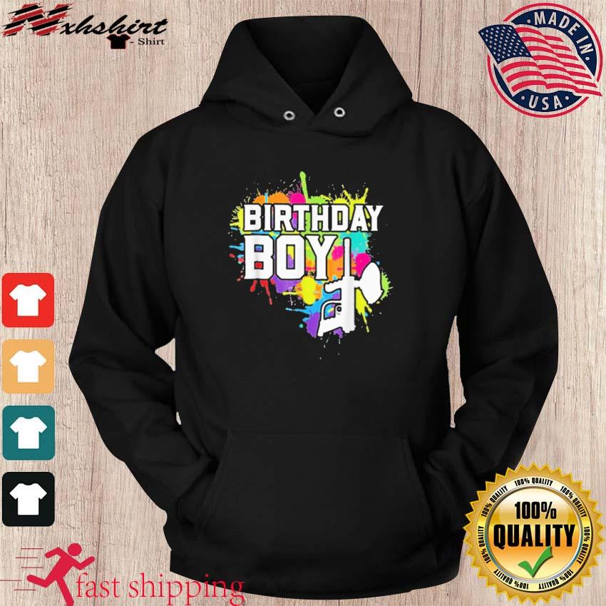 Official Paintball Birthday Boy Shirt hoodie