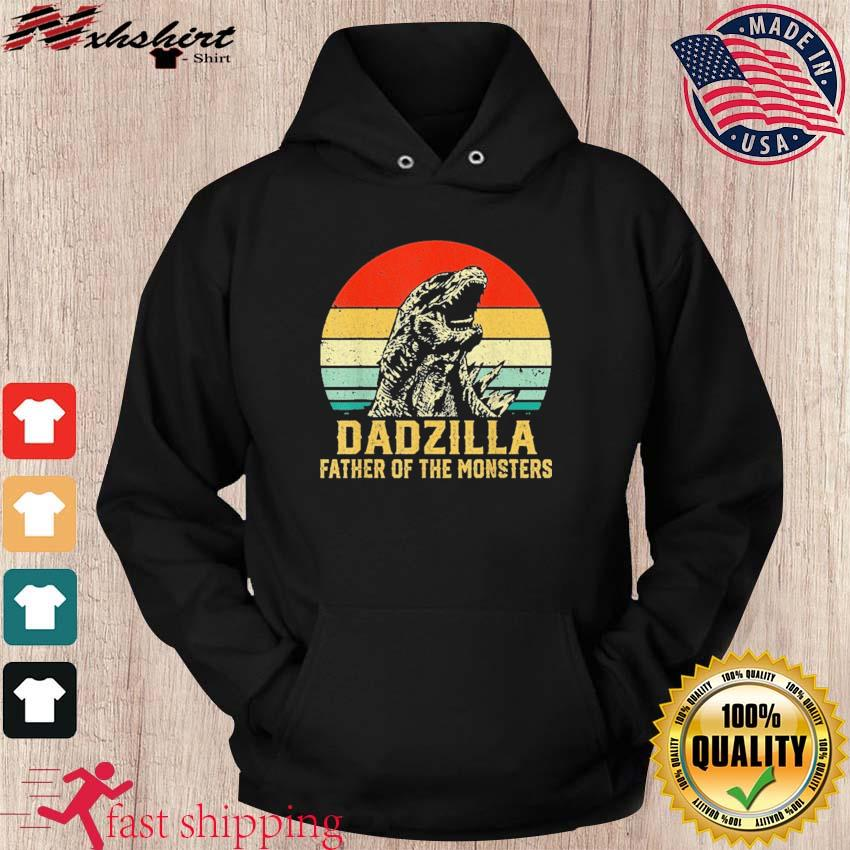 Official Vintage Dadzilla Father Of The Monsters Shirt hoodie
