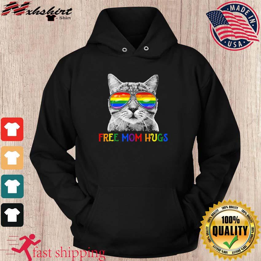 Free Mom Hugs Purride Proud Ally Cat Rainbow Flag LGBT Pride 2021 Shirts hoodie