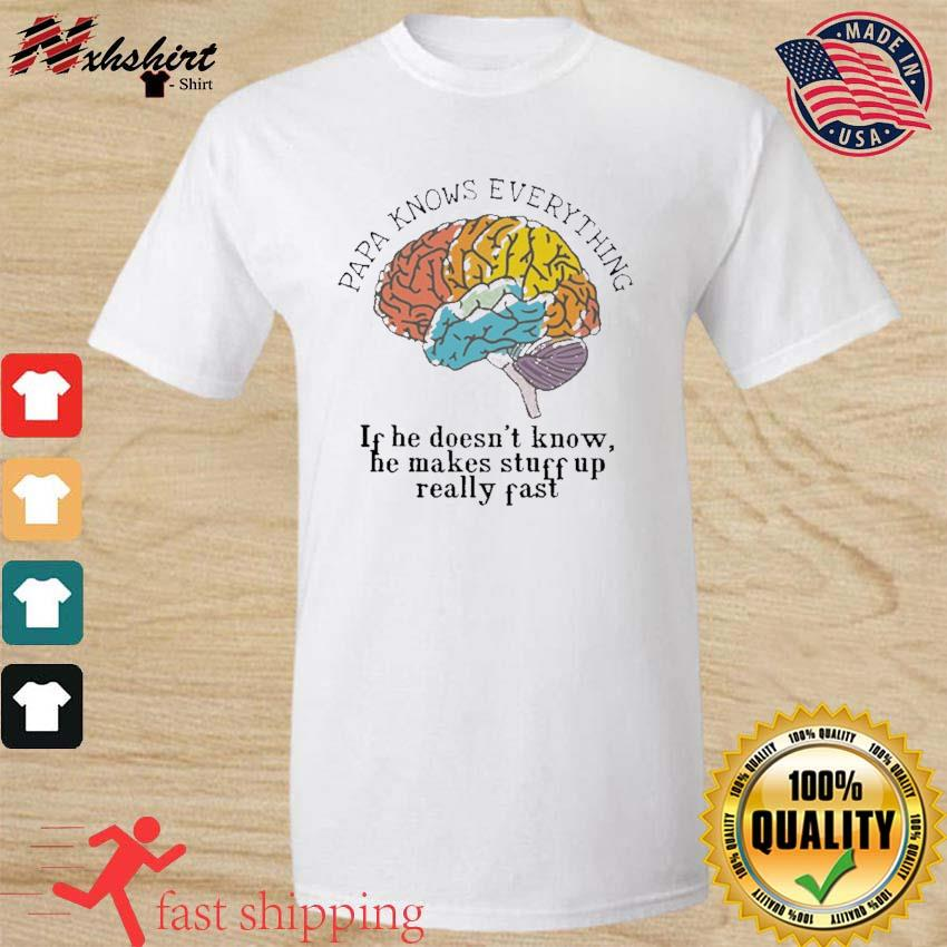 Papa Know everything If He Doesn't Know, He Makes Stuff Up Really Fast Shirt, Papa Know everything Shirt