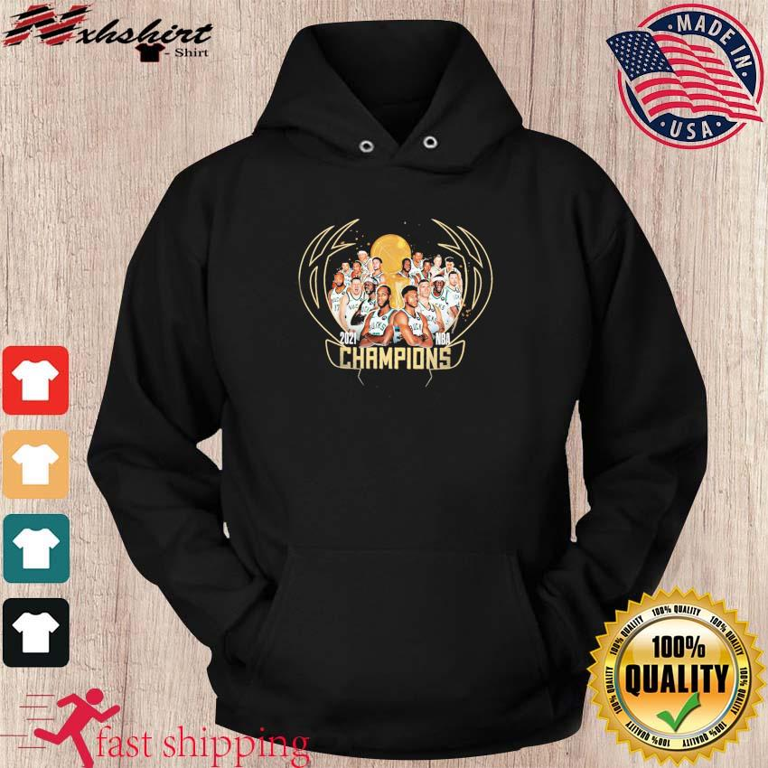 2021 Nba Champions Of The Milwaukee Buck Team Basketball T-Shirt hoodie
