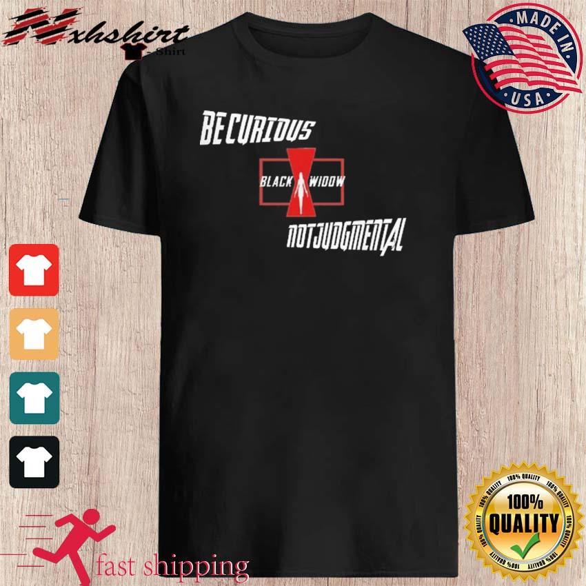 Bicurious Black Widow Not Judgmental Shirt
