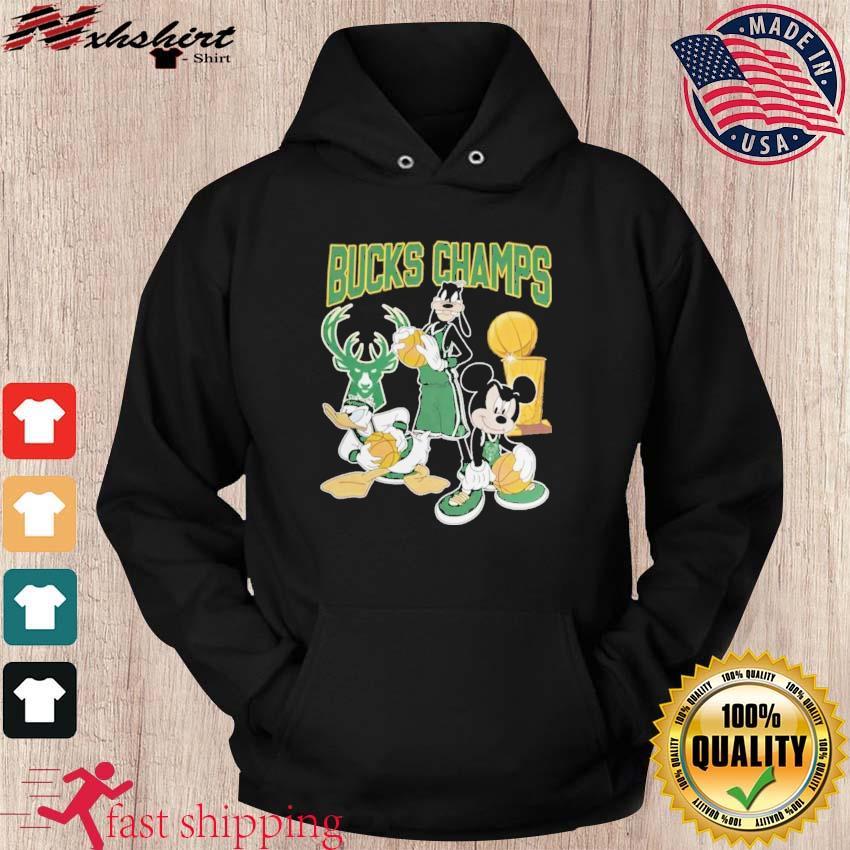 Bucks Championship Tshirt Funny Mickey Donald Goofy Milwaukee Bucks Champions hoodie