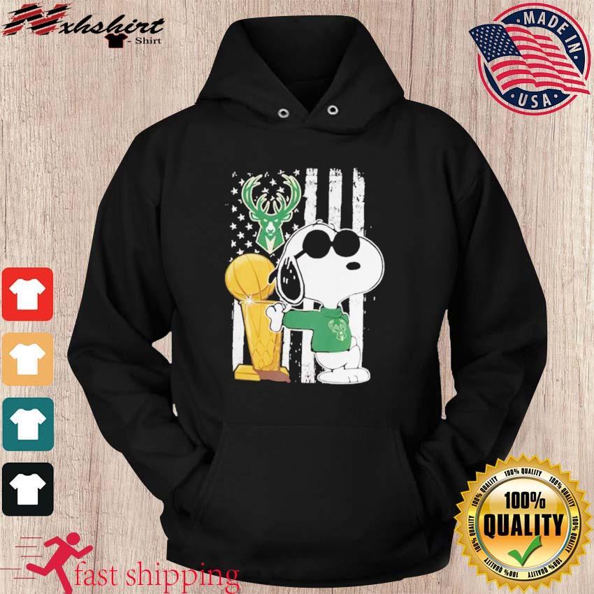 Bucks Championship Tshirt Funny Snoopy Joe Cool Milwaukee Bucks Cool hoodie