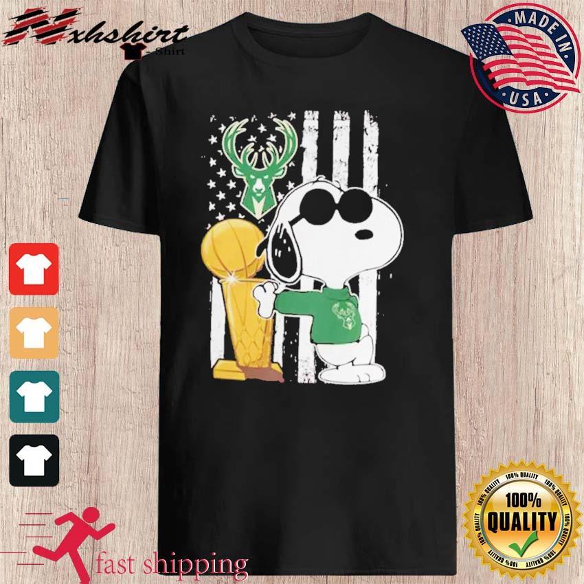Bucks Championship Tshirt Funny Snoopy Joe Cool Milwaukee Bucks Cool