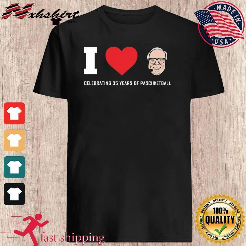 Funny Giannis I Love Jim Paschke Celebrating 35 Years Shirt