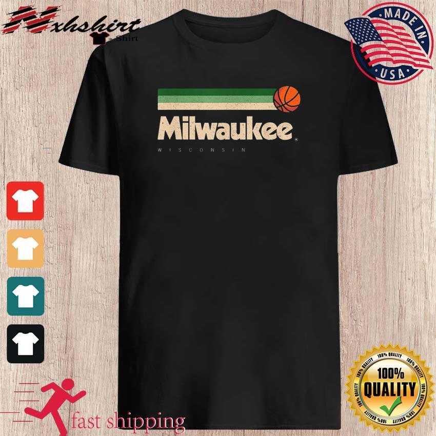 Milwaukee Basketball B-Ball City Wisconsin Retro Milwaukee TeeShirt