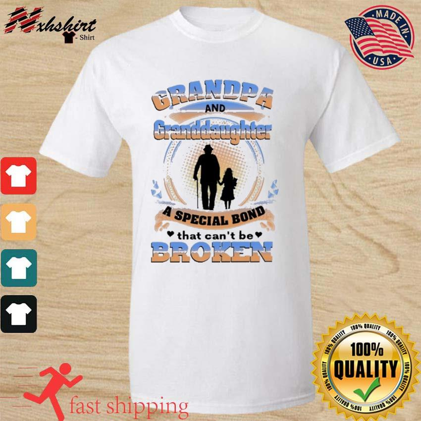 Official Grandpa And Granddaughter A Special Bond That Can't Be Broken Shirt
