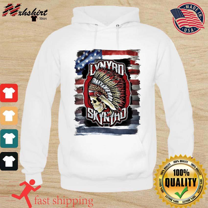 Official Lynyrd Skynyrd Indian Skull American Flag Shirt hoodie