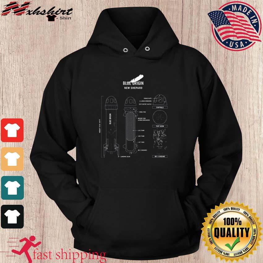 Official New Shepard Rocket Blueprint Shirt hoodie