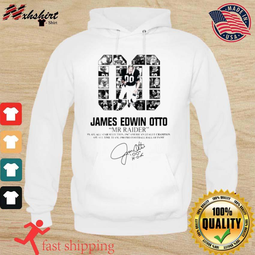 00 James Edwin Otto Mr Raider signature s hoodie