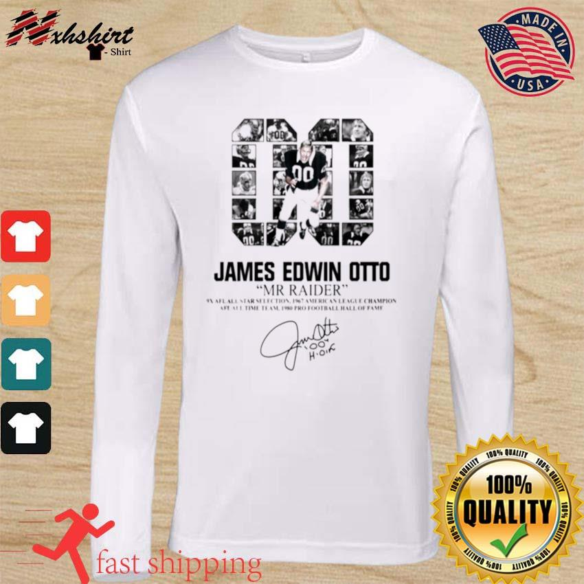 00 James Edwin Otto Mr Raider signature s long sleeve