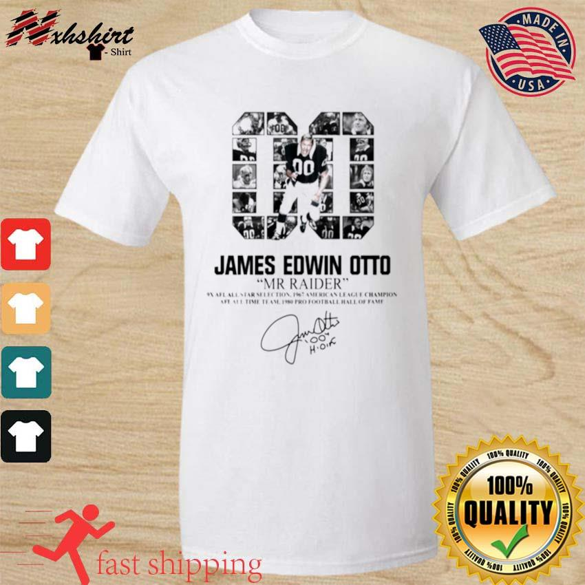 00 James Edwin Otto Mr Raider signature shirt