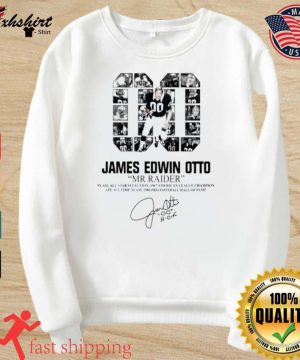 00 James Edwin Otto Mr Raider signature s sweater