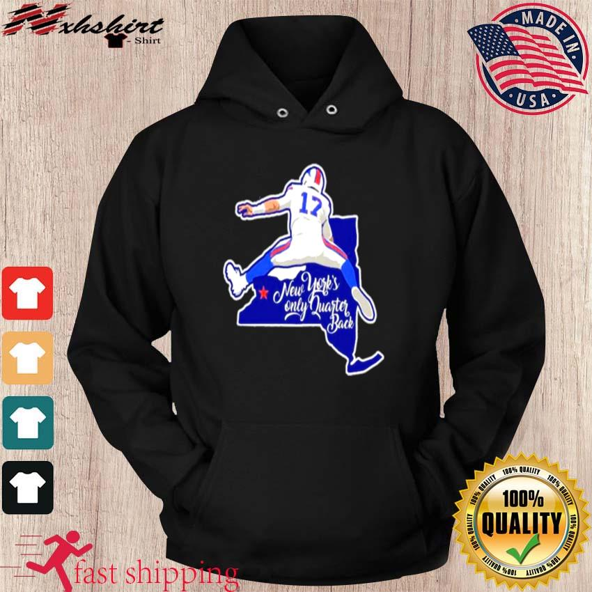 Buffalo Bills Josh Allen New Yorks only quarterback s hoodie