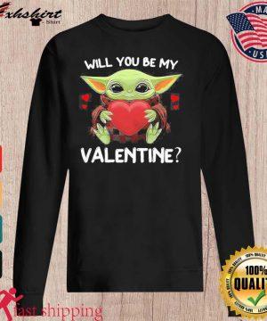 Baby Yoda Hug Heart Will You Be My Valentine Shirt sweater
