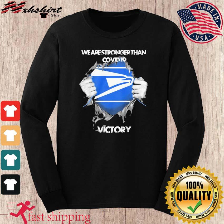 Blood Inside Me The Seahawks We Are Stronger Than Covid 19 Victory Shirt long sleeve