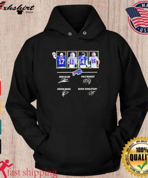 Buffalo Bills Allen Beasley Diggs And Singletary Signatures Shirt hoodie