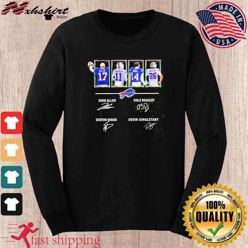 Buffalo Bills Allen Beasley Diggs And Singletary Signatures Shirt long sleeve