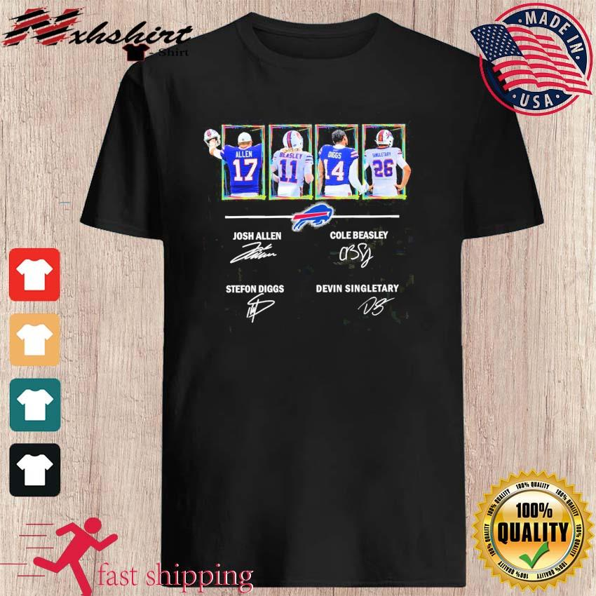 Buffalo Bills Allen Beasley Diggs And Singletary Signatures Shirt