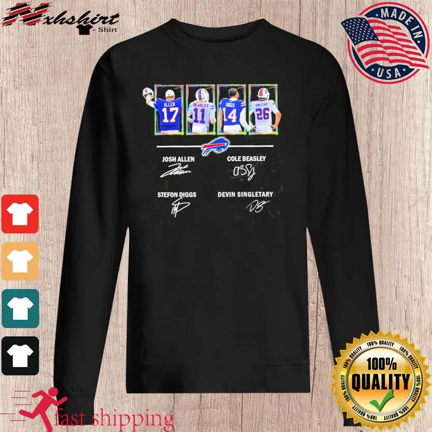 Buffalo Bills Allen Beasley Diggs And Singletary Signatures Shirt sweater